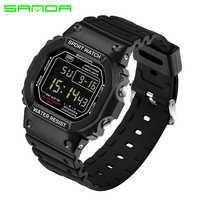 Relojes digitales rectangulares de SANDA para hombre y mujer automáticos reloj de pulsera resistente al agua datejust Army alarma de calidad superior