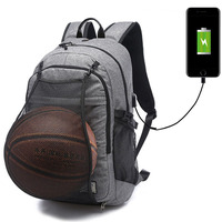 Basketbal Rugzak Sporttas USB Opladen Fitness Training Man 15.6 Inch Laptop Schooltas Sport Voetbal Sporttas XA604WD