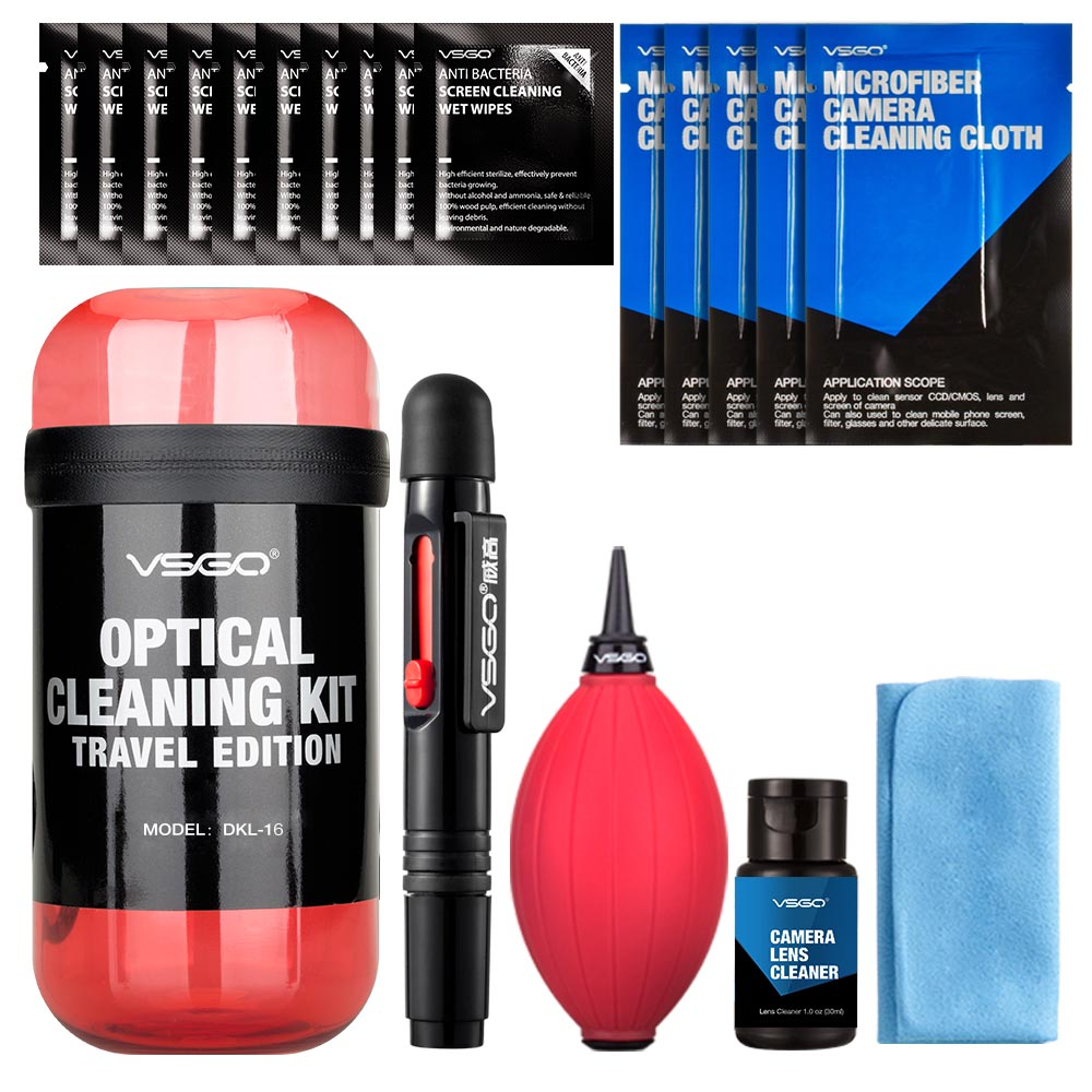 VSGO Professional Dust Cleaner Camera Cleaning Lens Cleaning Pen Brush kit for Canon Nikon Sony Filter DSLR SLR DV 3in1 dust cleaner camera cleaning lens brush air blower wipes clean cloth kit for for gopro canon nikon sony dslr camcorder vcr