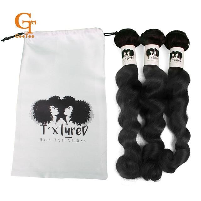 Custom Logo 100 Virgin Hair Extension Packaging Hair Bundles