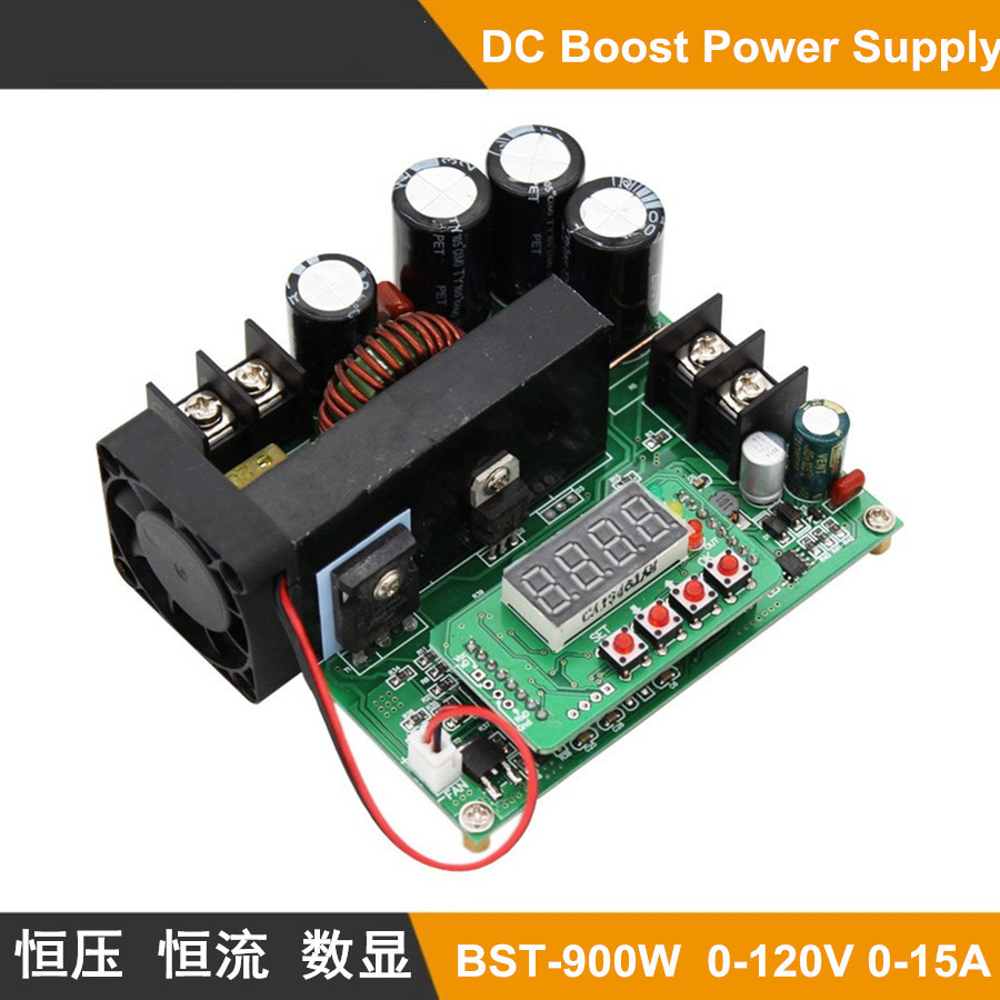 B900W NC DC constant current power supply voltage adjustable boost module Ammeter 120V10A charger zxy6005s nc voltmeter ammeter constant voltage current dc dc power supply module with heat sink 0 60v 0 5a