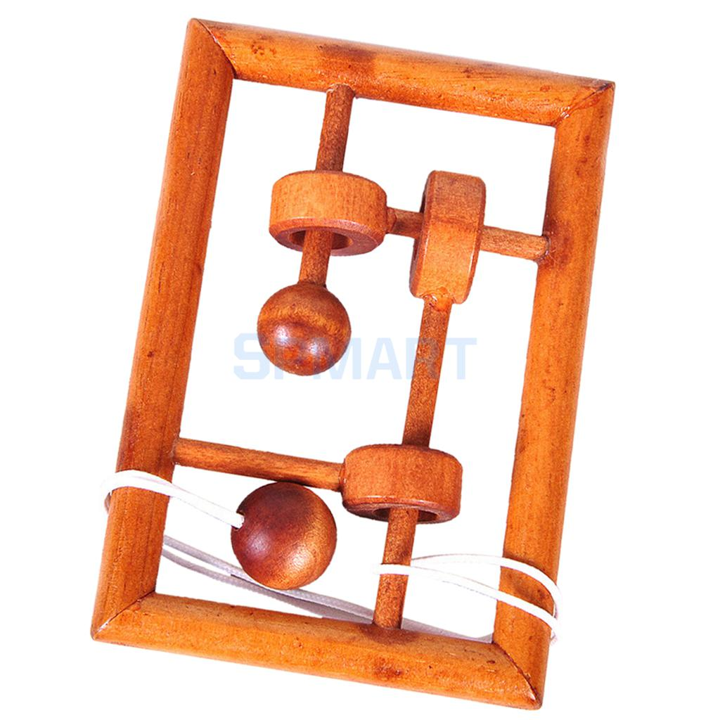 Wooden Unlock 3D Puzzle Kongming Luban Lock IQ Brain Teaser Test Intelligence Toys