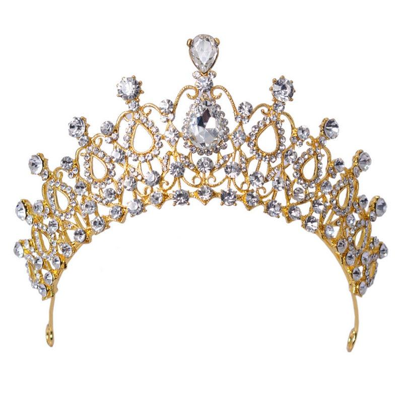 Diademe princesse adulte Cristal de Mariage Strass Couronne princesse Tiara Couronne Pageant Diad/ème Princessee Bijoux /à cheveux