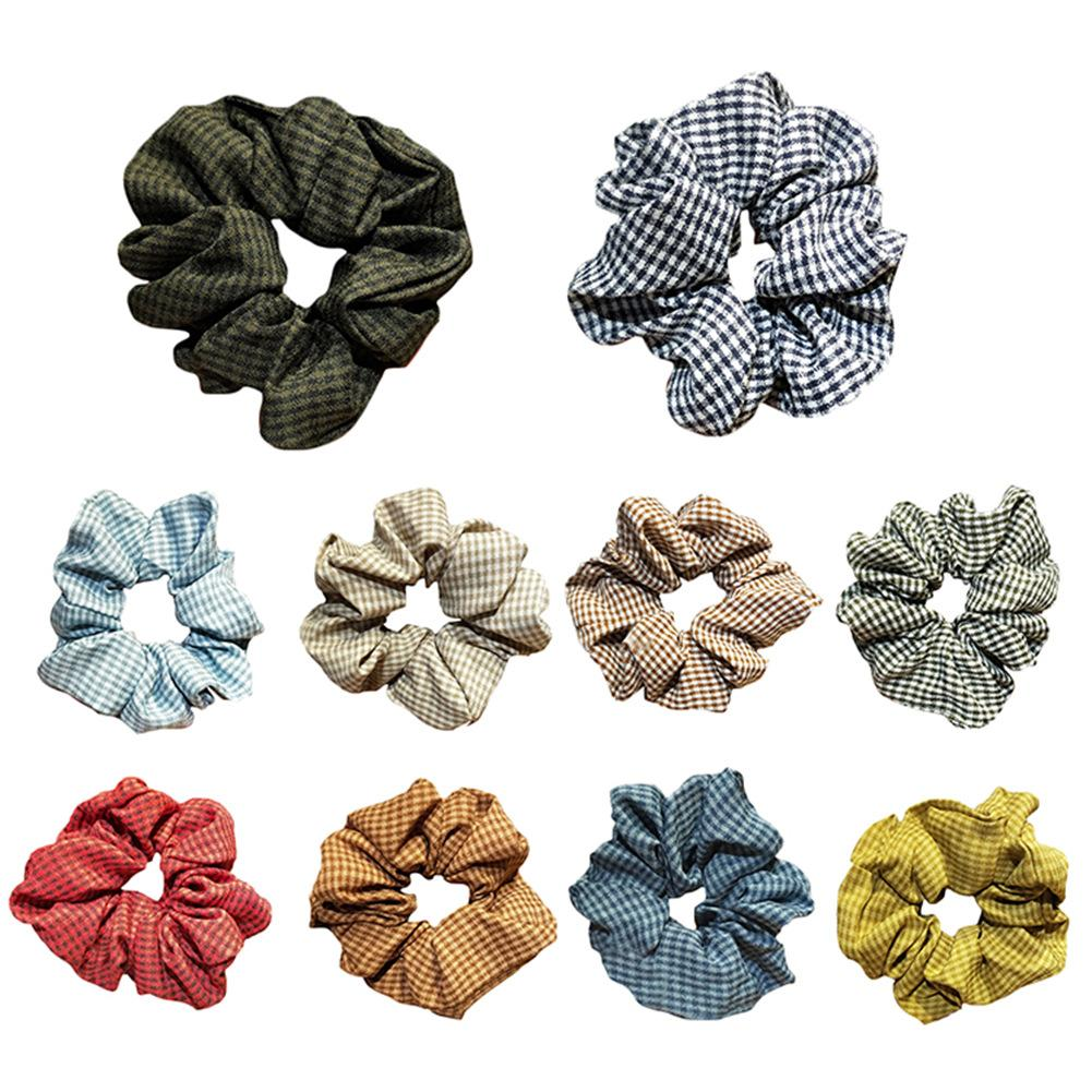10 Colors Elasticity Scrunchie New Hot Ponytail Holder Hairband Hair Rope Tie Fashion Stipe Colorful Floral Women Girls Dropship