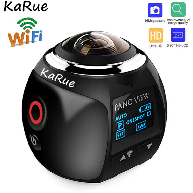 цена KaRue V1B Camera 360 Action Camera Wifi 2448*2448 Ultra HD Mini Panorama Camera 360 Degree Sport Driving VR Camera 5PCS