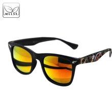 Gafas de sol deportivas estilo tiburones marca MLLSE para mujeres y hombres  gafas marco cuadrado camuflaje Retro gafas de sol e8c2de047260