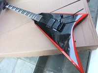New Arrival Jackson Flying V Electric Guitar One Piece Pickups Top Quality In Black 101126