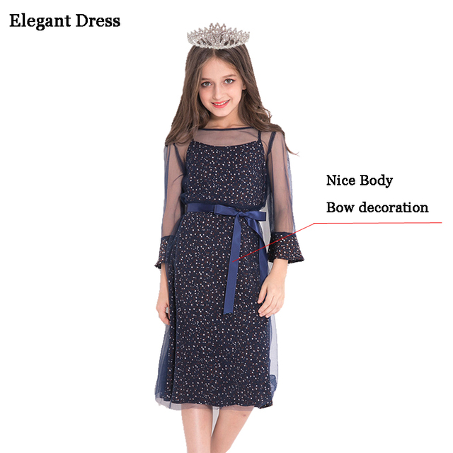 c43cf1e50 Vestido elegante para niñas adolescentes ropa niñas princesa vestido de  fiesta 10 11 12 13 14
