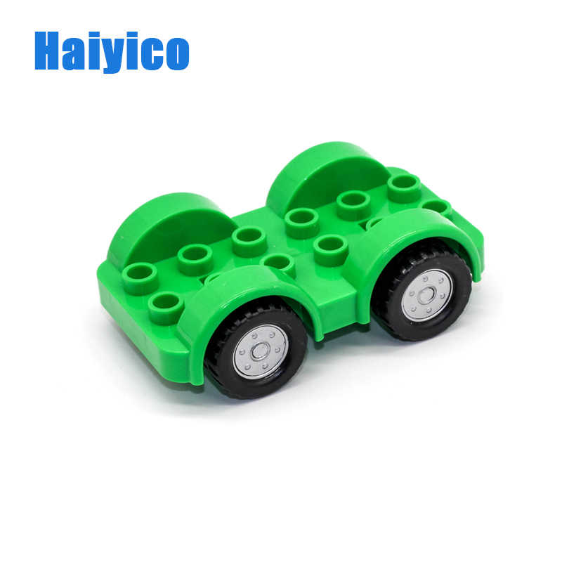 Big Original Bricks Colorful Chassis Track Car Frame Model Building Blocks  Compatible Duplo Vehicle Basic Accessory Kid Gift Toy