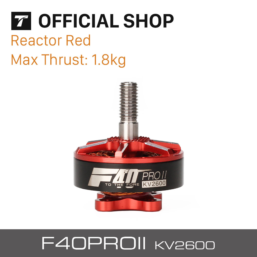 T-motor New Released F40 PRO II 2600KV Brushless Electrical Motor Reactor Red For Racing Drones Motor Accessorie лодочный мотор sea pro f 9 9s new