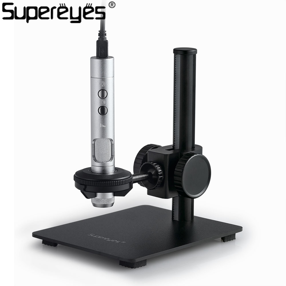 Supereyes Professional Portable USB Digital Microscope 5MP 500X Endoskop Lupa Obiektyw Handheld Mikroskop Elektroniczny Lupa