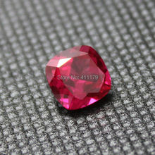 Fat square shape faceted gemstone beads ruby gemstones jewellery diy jewelry bead created design making rose red corundum stone