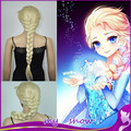 Children And Adult Plait Fluffy Long Hair Cosplay Wigs  Cartoon Movie Elsa Girl Hair Wigs  Hallowmas Hair