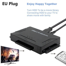 USB 3.0 to 2.5/3.5/5.25 IDE SATA Hard Drive Adapter HDD Transfer Converter Cable EU Plug 2016 new usb 2 0 to ide sata s ata 2 5 3 5 hd hdd hard drive adapter converter eu plug