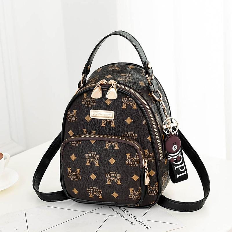 2019 Summer New Women's Backpack PU Mini Small Backpack Simple Fashion Double Shoulder Bag Korean  Cute Mini Backpack