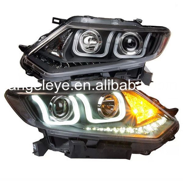 For NISSAN X-Trail Rogue LED Head Light with HID KIT in the Low Beam 2014 year U Type LF