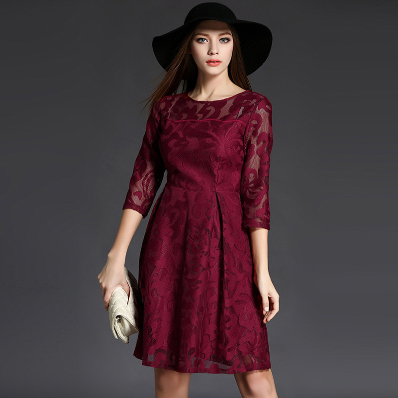Wmwmnu marque haute qualité maille broderie robe 2017 nouveauté seconde pour $20