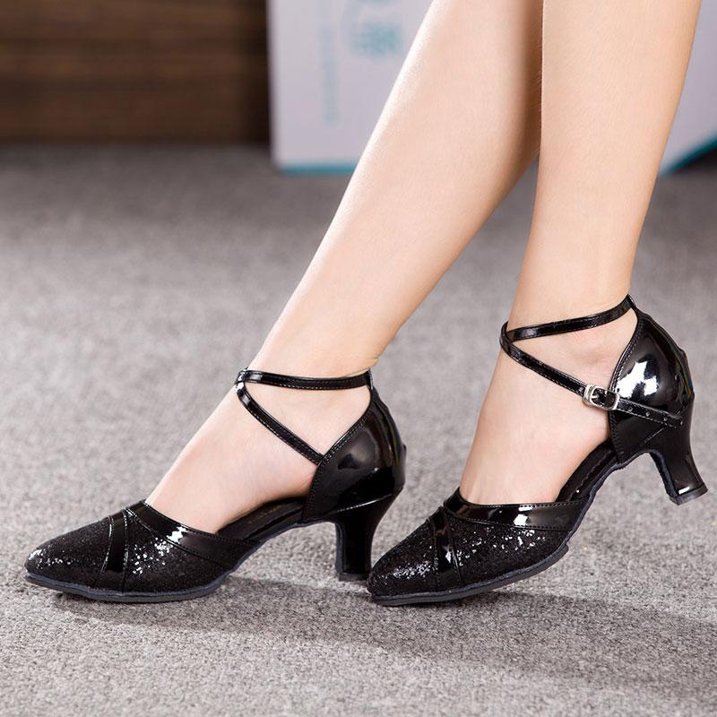 7 Colors Adults Women Latin Dance Shoes Salsa Tango Dancing Shoes For Ladies 3.5/5.5/7 cm Heels Ballroom Shoes Dance