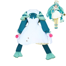 2019 New Vocaloid Hatsune Miku Cosplay Costume Snow Outfit Carnival/Halloween Adult Costumes for Women S-XL