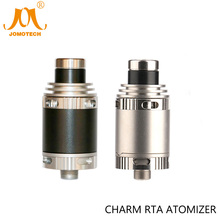 Stainless/Black Rebuildable Atomizer Charm RTA Full SS316 Material Charm DIY Atomizer For Evic VTWO TFV 80W TC Mod Jomo-194