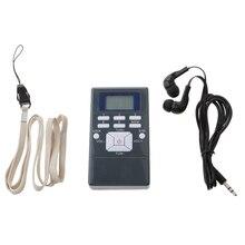 راديو جيب FM ، راديو رقمي محمول مع جاك 3.5 مللي متر سماعة شاشة الكريستال السائل FM نطاق التردد 60 108 ميجا هرتز حساسية عالية
