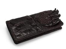 100% genuine alligator skin leather wallets + crocodile leather skin men wallets and purse + Free shipping