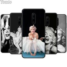 Silicone TPU Case for Oneplus 7 7 Pro 6 6T 5T Black Soft Case for Oneplus 7 7Pro Phone Cover Shell Marilyn Monroe