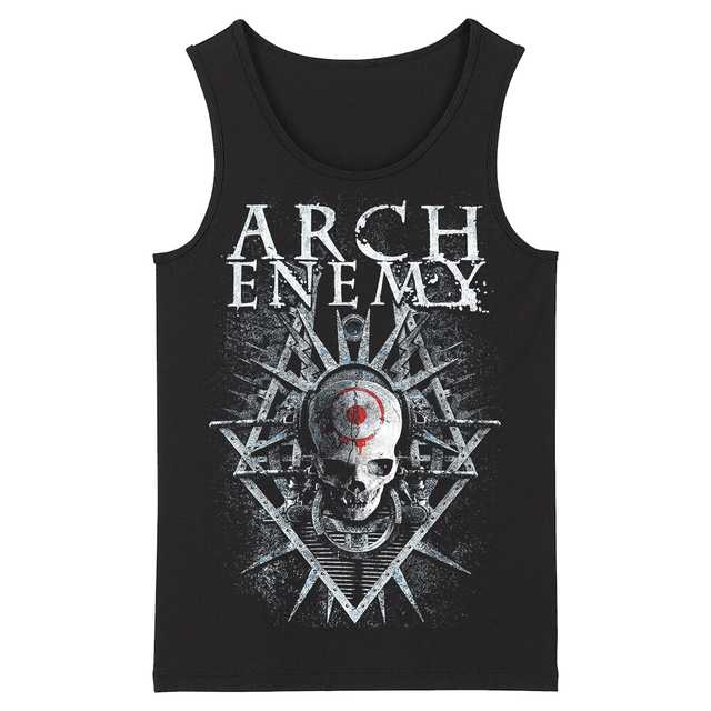 Bloodhoof Arch Enemy Hard Metal Deathcore Rock Hard Metal mens top black Tank Tops Asian Size