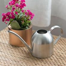 500ml Modern Stainless Steel Small Water Bottle Long Mouth Pot Indoor House Plants SpoutWatering Can Garden Sprinkling