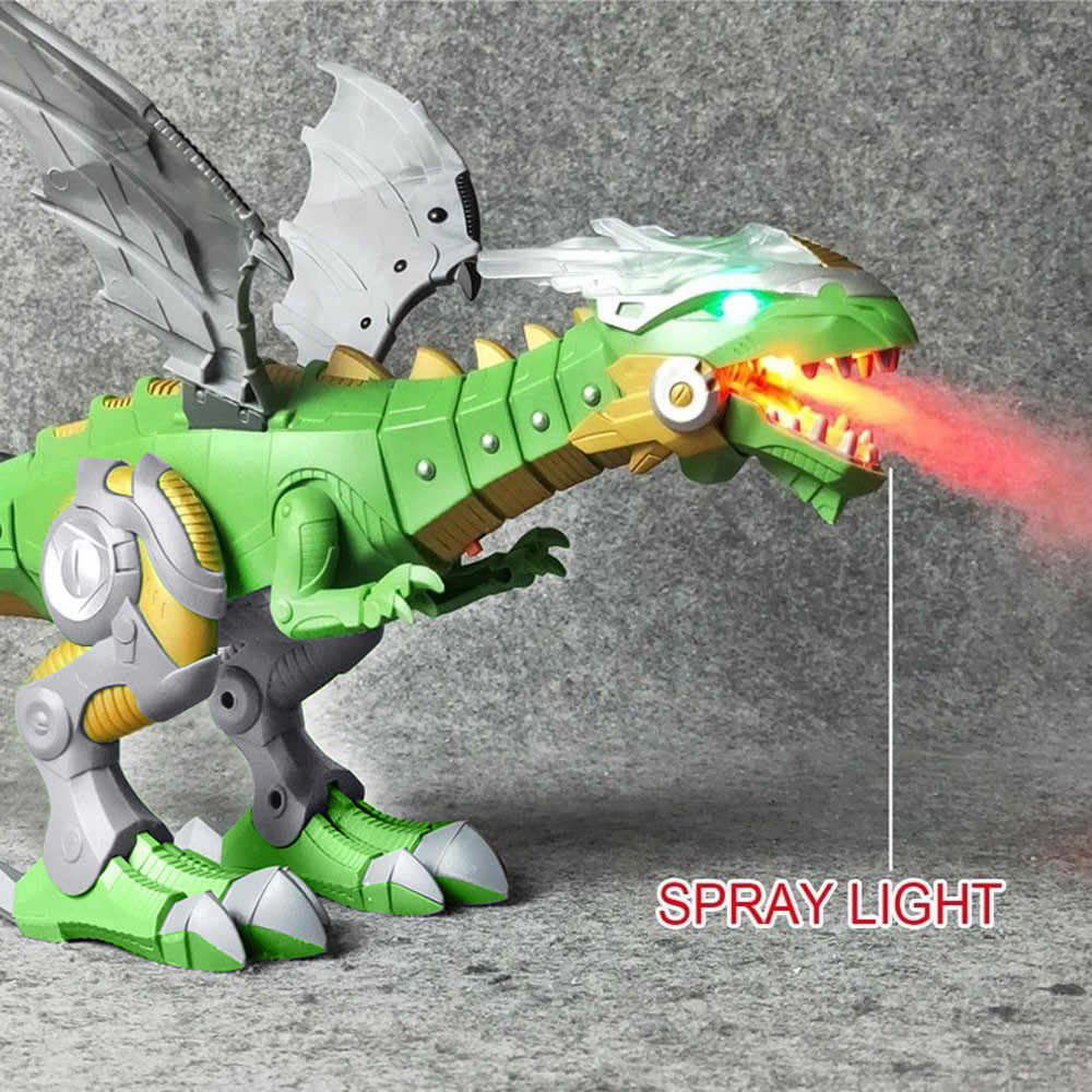 Electric Toy Large Size Walking Dragon Toy Fire Breathing Water Spray With Light Sound Mechanical Dinosaurs Model Toys For Kids