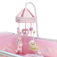 Baby Toy Music Bed Bell Turn Music Plush Bed Hanging Puzzle Wind Chimes Rattles Cute Soft Hand Bell Educational Toys for Baby