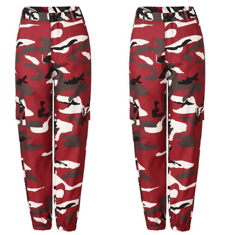 Verano mujeres señoras Camo Cargo Pantalones Casual pantalones militares combate camuflaje pantalones vaqueros lápiz Dropshipping caliente