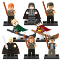 8 unids/lote Xinh 0121 Amigos de Harry Potter Ron Weasley Hermione Jean Granger Lord Voldemort Building Blocks Juguetes X0121