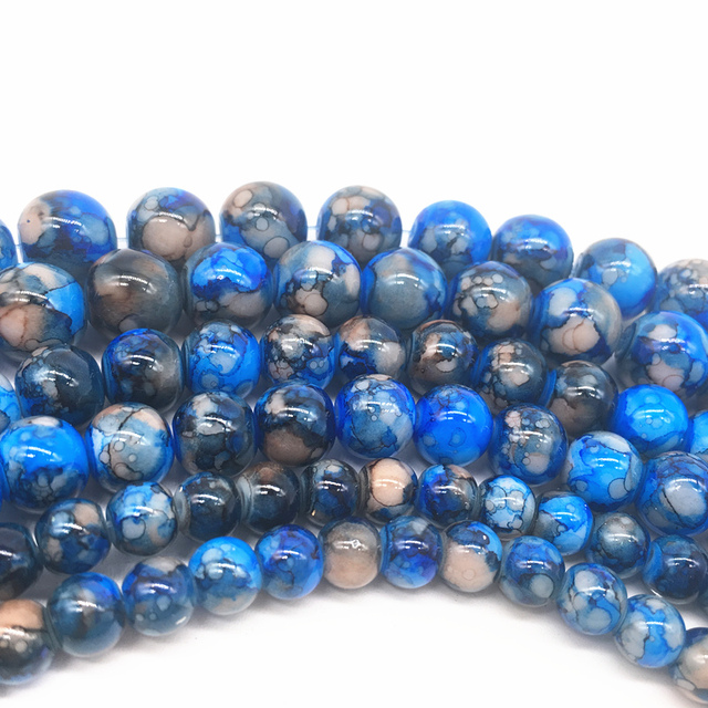 6/8/10mm Glass Beads 6