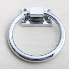 shiny silver wooden chair pull knob chrome drop rings handle Bright chrome sofas pull handle wooden