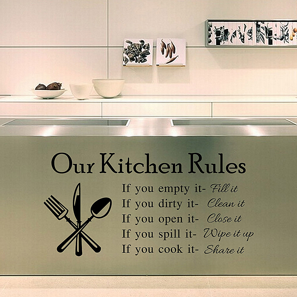 Empty Kitchen Wall Aliexpresscom Buy Diy Kitchen Wall Stickers Kitchen Rules Home