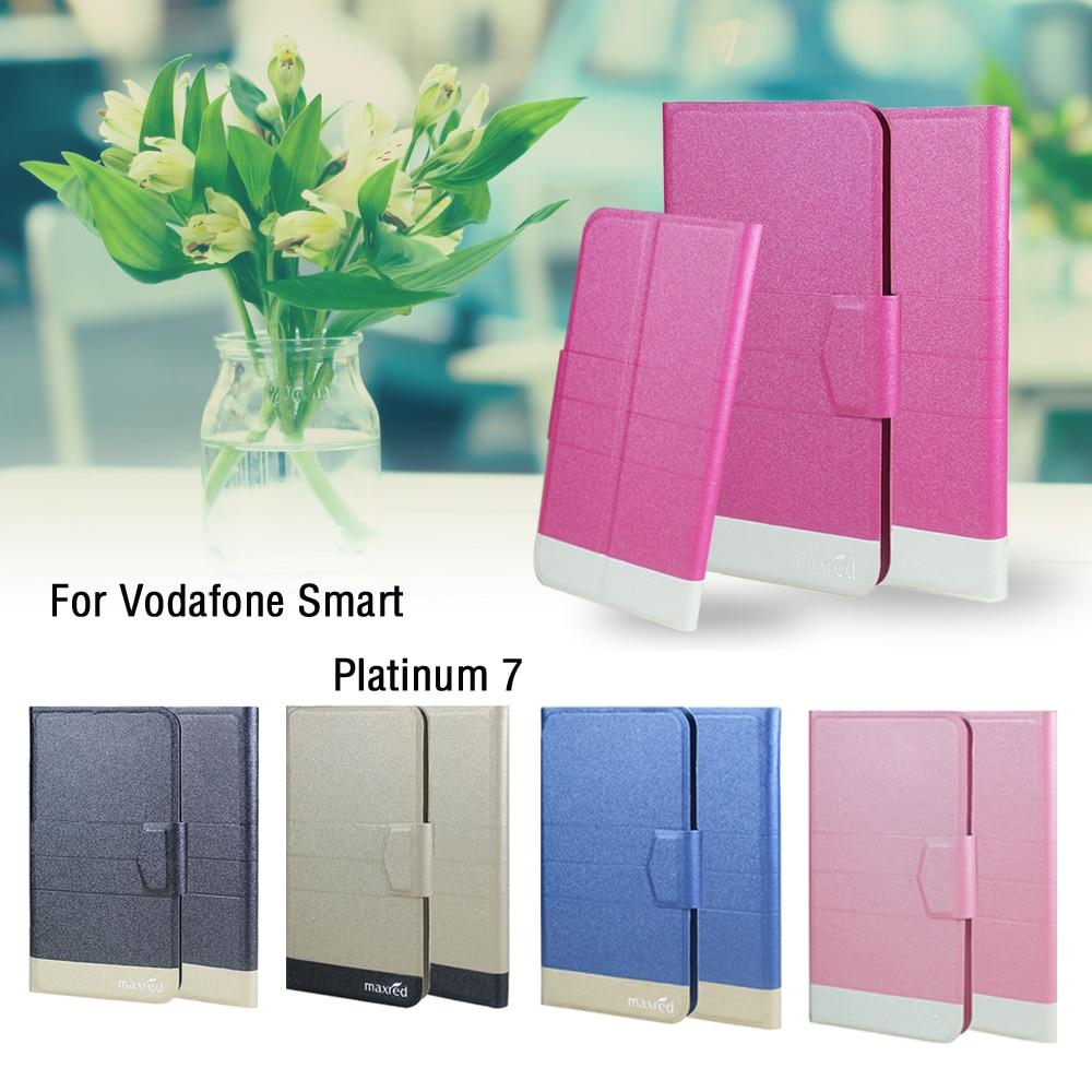 5 цветов Лидер продаж! Vodafone Смарт Platinum 7 чехол для телефона кожаный чехол, Прямая продажа с фабрики модные роскошные полный Флип Стенд телефо…