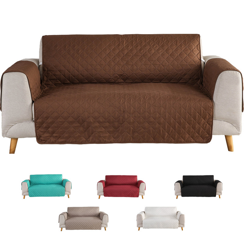 Solid Color Sofa Cover Washable Removable Towel Armrest