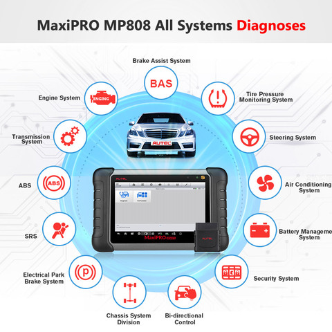 Autel MaxiPRO MP808 DS808 OBD2 Automotive Scanner OBDII Diagnostics Tool Code Reader Scan Tool Key Coding as Autel MaxiSys MS906 Lahore