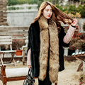 Brand Besty Women Real 100% Genuine Raccoon Dog Fur Long Scarf Fur Scarf  elegant new arrivals fashion solid real fur scarves