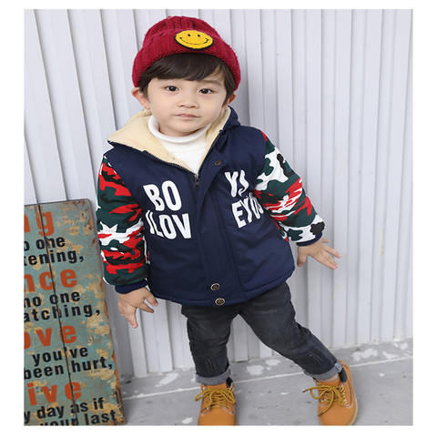 257 High quality 0-4 years winter boy jacket thicken woolen warm Hooded baby clothing kid children baby jacket outerwear coat Lahore
