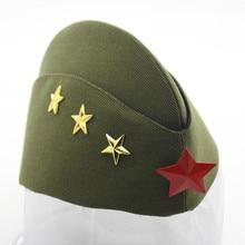 Que No Chuveiro Cap Estrela Vermelha de Algodão da Marinha Tampão de Marinheiro  Dance Party Stage Crachá Capitão Boina Chapéu Mi. c58b0c0c273
