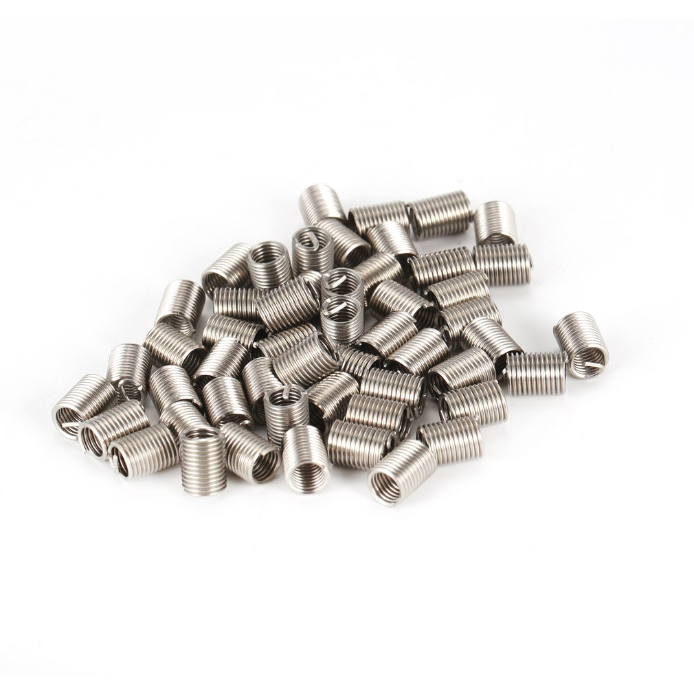 Coiled Wire Screws Sleeve Screw Sleeve Wire Thread Insert 65 Pcs//Set 304 Stainless Steel Thread Screws Sleeve for Industrial Accessories Industrial Hardware