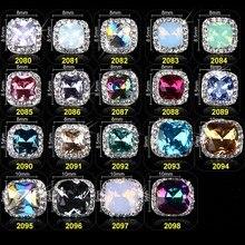 100pcs Mix AB Crystal Glitter 3D Nail Art Jewelry Decorations Opal Glitter,3D Charms,Jewelry On Nails Salon Supplies R44546