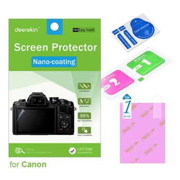 Deerekin HD nano-powłoka ochronna do aparatu Canon EOS M6 Mark II M50 M100 M200 M3 M5 M10 tanie i dobre opinie DK-NANO-SP-M6 Exact Screen Dimension Kamera Soft UV