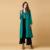 RichLuLu Mujeres Outerwears Moda Elegante Verde Sólido Delgado Ocasional Gabardinas Clásicos Larga Línea Streetwear Abrigos Sueltos