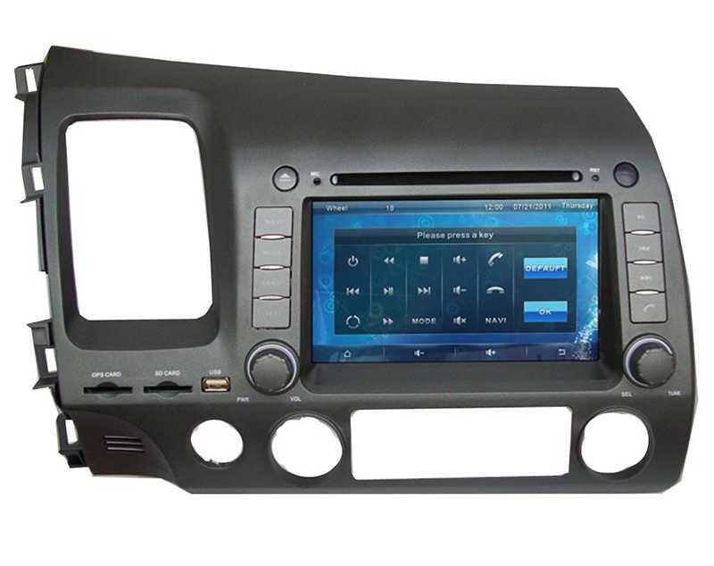 """Reproductor de DVD de coche de 7 """"con GPS (opcional), Radio de audio estéreo, BT, coche multimedia Unidad Principal para Honda CIVIC 2006, 2007, 2008, 2009, 2010, 2011"""