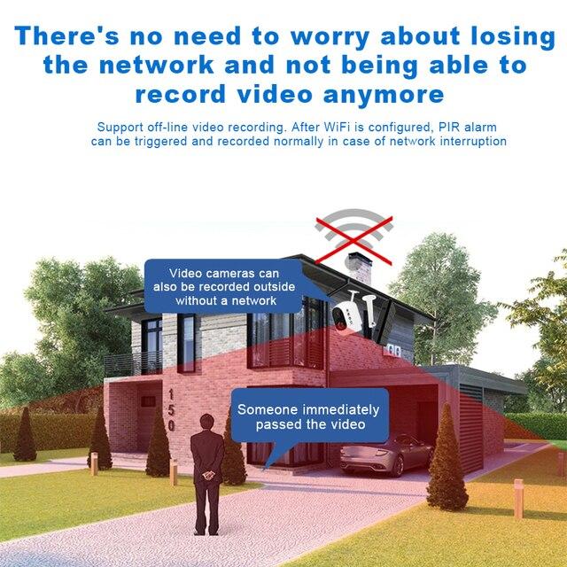 2MP Security Solar Camera Power Outdoor Waterproof Wifi IP Camera Night Vision Surveillance CCTV Camera Video Recorder 32G Card 5