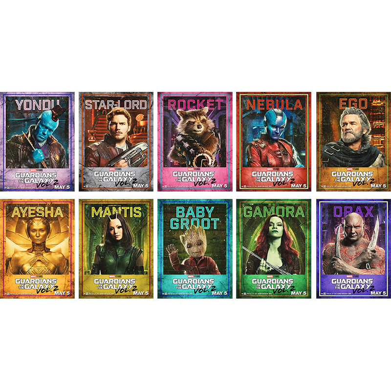 2017 Nieuwe Guardians Van De Galaxy Vol.2 Movie Hq Imax Zijde Of Canvas Poster 13x18 24x32 Incher-(klik Zie Om Meer) 001