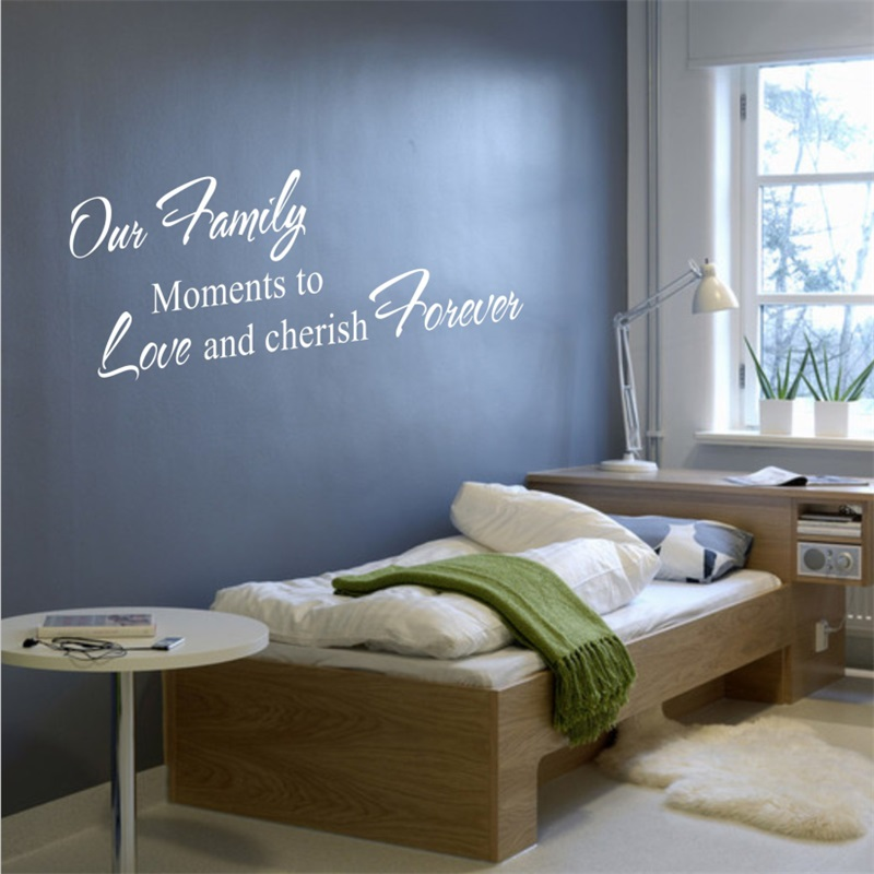 cherish family moment home decor creative quote wall decal zooyoo8056 decorative adesivo de parede removable vinyl wall sticker